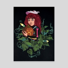 Pepper of the Pumpkin Patch - Canvas by Allison Bamcat