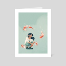 Deep thoughts - Art Card by Mélanie Bouillat
