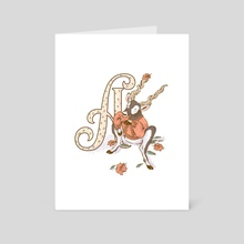 Letter A - Art Card by Nellyce