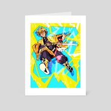 funky lightning lad!  - Art Card by Addi Kalmbach