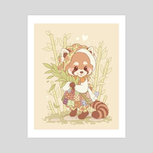 Bonny Red Panda by Samantha Whitten