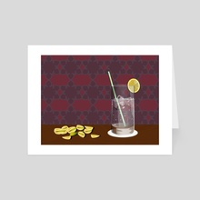 Gin and Tonic - Art Card by Angela Fernihough