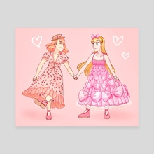 Rosie and Camilla in Lirika Matoshi's fashion - Style Savvy/Style Boutique: Styling Star  - Canvas by Sevendays Art (Teresa)