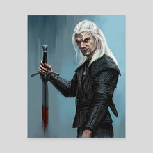 The Witcher - Canvas by Candra Hope