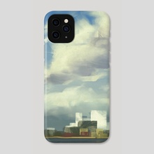 City skyline at noon - Phone Case by Steph Wootha