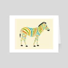 Zebra - Art Card by Jazzberry Blue