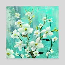 White Bloom - Canvas by Anthony Christou