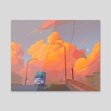 On the road - Acrylic by Arina Mochalova