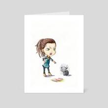 Bad Kitty - Art Card by Indré Bankauskaité