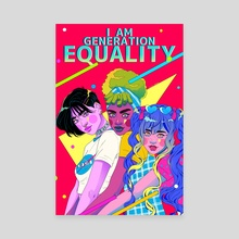 I AM GENERATION EQUALITY - Canvas by LORE MERAKI