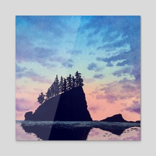 Olympic National Park  - Acrylic by Kristin McKeever