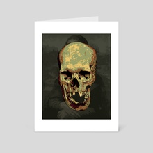 Mona Lisa theme skull - Art Card by Mahan  Malekzadeh