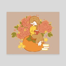 September: Persimmon Rose - Canvas by Cali Flair
