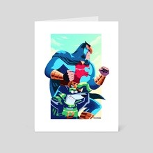Blue Falcon and Dynomutt  - Art Card by Ryan Barr