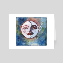 SuperMoon 2018 - Art Card by Maureen Nadeau