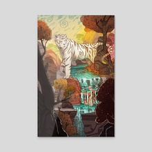White Tiger - Acrylic by Brady Gurley