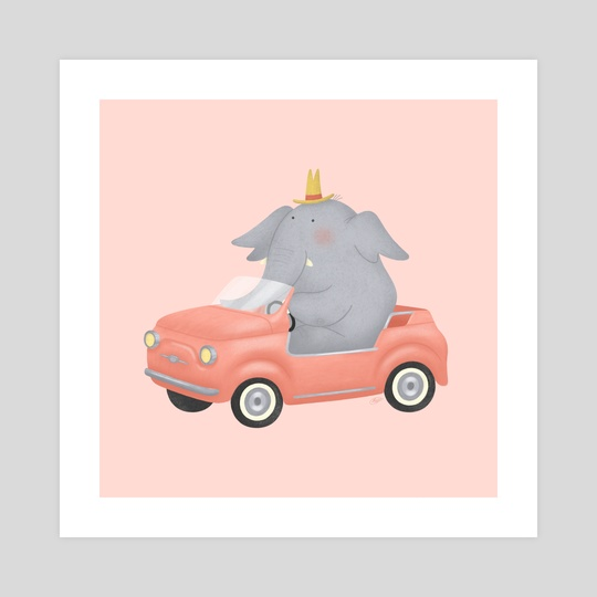 Vintage Animal: Elephant by Irene Buzzi
