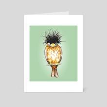 Brahminy starling - Art Card by Bianca Wisseloo