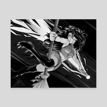 Maple Rae (B&W) - Canvas by Lesley Garlan