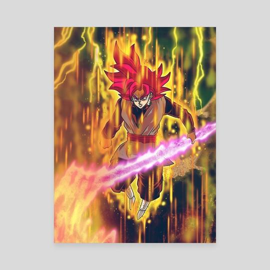 Rageful Super Saiyan God Goku Black by Roy The entertainer