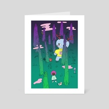 Asparagus forest - Art Card by apfelbla