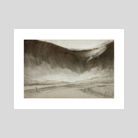Iceland Sketches: Whale Road by Rovina Cai