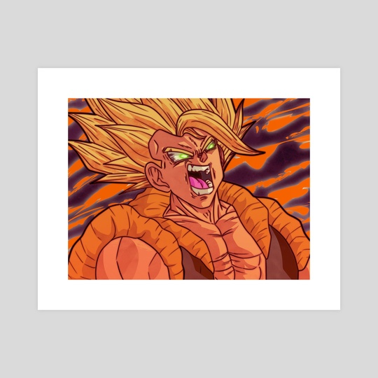 Awakened Rage Super Saiyan Gogeta burst color  by Roy The entertainer