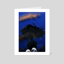 Reflecting - Art Card by will battersby