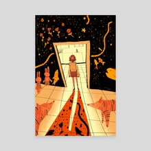 doorway fun - Canvas by Angie Hewitt