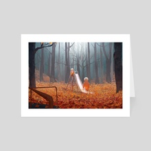 Autumn Playground - Art Card by Florian Aupetit