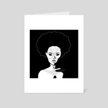 Geometric Face Painting #1 - Art Card by Mariosupa