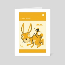 R is for RABBIT - Art Card by Jazzberry Blue