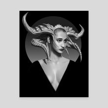 Horned Beauty - Canvas by Thorsten Denk