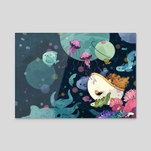 Bath Visions - Acrylic by Cleonique Hilsaca