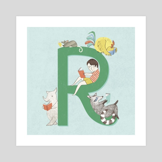 R is for Reading by Angela Keoghan