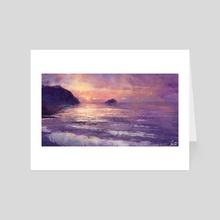 Purple Beach  - Art Card by Joseph Feely