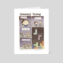 Universe Tetris - Art Card by Connie Sun