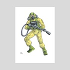 Airtight - GI Joe - Art Print by Brian Shearer