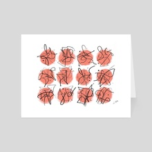 Abstract Squiggles - Art Card by Lindsay M Haynes