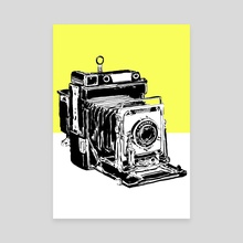 Vintage Graphex Camera in yellow - Canvas by Aiden James