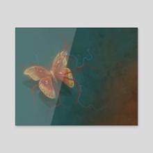 Attacus atlas - Acrylic by Svetlana Fictionalfriend