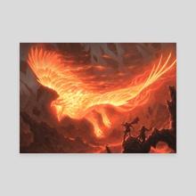 Akoum Firebird - Canvas by Chris Rahn