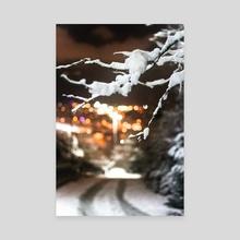 Snow - Canvas by Agit Akbulut
