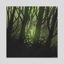 Forest Spirits - Canvas by vishnu m nair