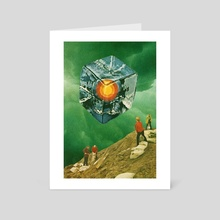 The Visitor - Art Card by jesse treece