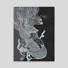 Deep Sea Witch - Acrylic by Jessica Bartram