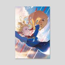 Captain Marvel - Acrylic by Yooani