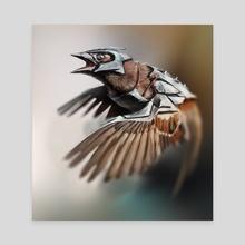 Sparrow - Canvas by Pavel Teltsov