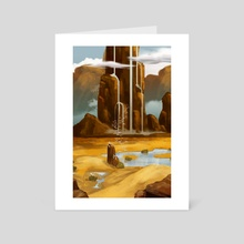 Holy water from heaven - Art Card by Herry Eyi
