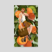Apricot - Canvas by Maike Plenzke